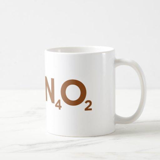 ¡Cafeína! Taza Básica Blanca