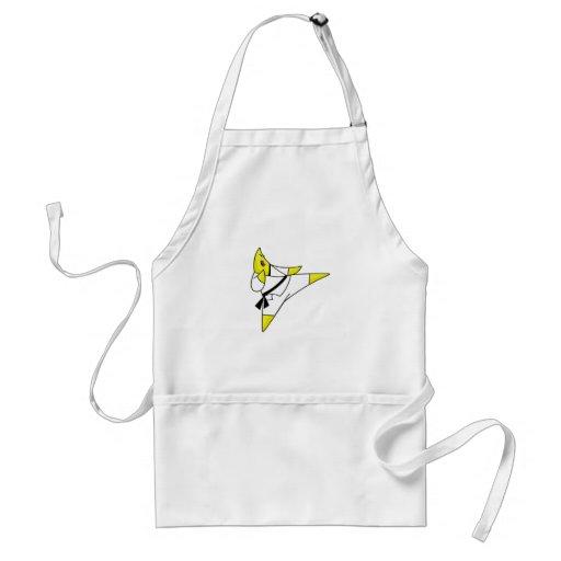 Cafepress de la estrella del karate delantal