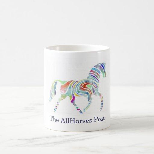 cafepresslogo, The AllHorses Post Classic White Coffee Mug