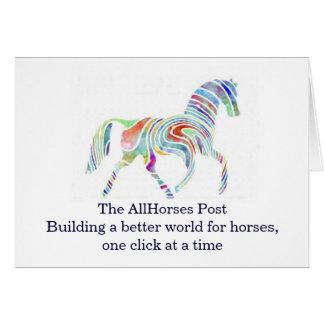 cafepresslogo, The AllHorses PostBuilding a bet... Card