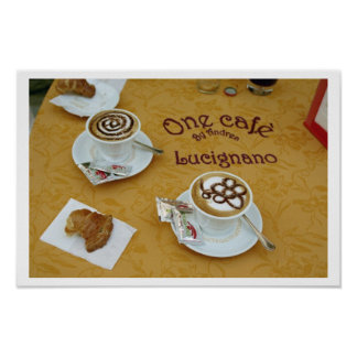 Cafes and Cappuccinos Poster