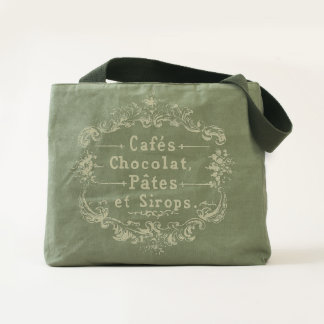 Cafes Chocolat Pates Sirops Vintage French Tote