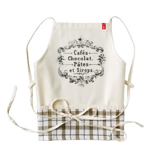 Cafes Chocolat Pates Sirops Vintage French Zazzle HEART Apron