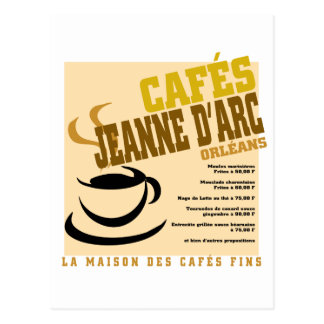 Cafes Jeanne D'Arc Postcard