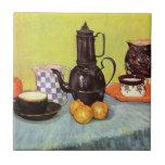 Cafetera azul del esmalte de Van Gogh, loza de bar Teja Ceramica