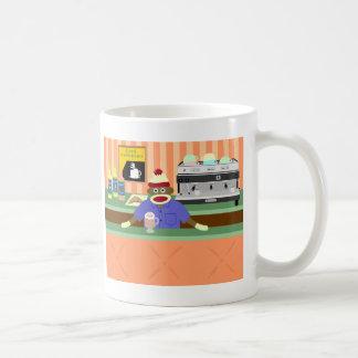 Cafetería Barista del mono del calcetín Tazas De Café