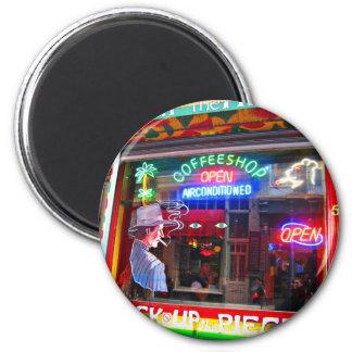 Cafetería de Amsterdam Imán Redondo 5 Cm