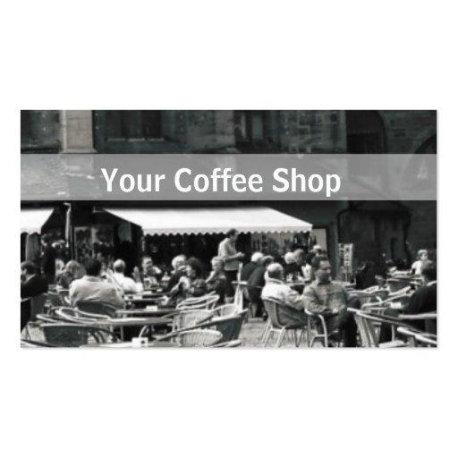 Cafetería de Europa Plantillas De Tarjetas Personales