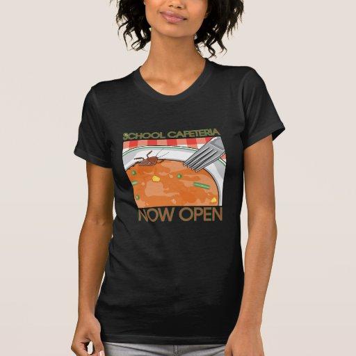 Cafetería de la escuela camiseta
