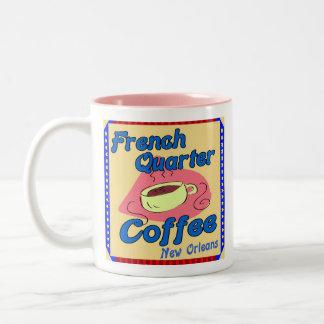 Cafetería del barrio francés tazas