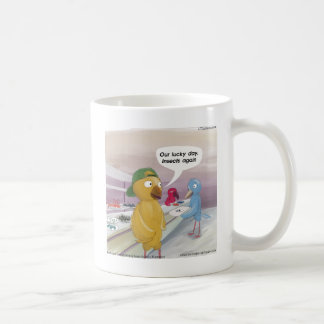 Cafetería del pájaro divertida taza clásica