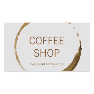 Cafetería - mancha del café tarjetas de visita