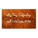 cafetería plantillas de tarjetas de visita