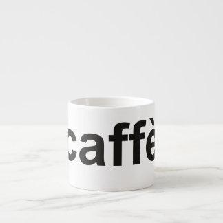 """caffè"" - Coffee in Italian, black Espresso Cups"
