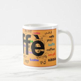 """caffè"" - Coffee in Italian, black. Map. Mugs"