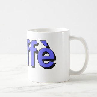 caffè - Coffee in Italian, blue Coffee Mug