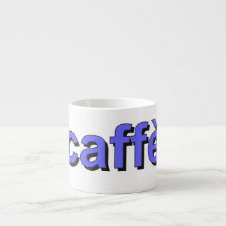 """caffè"" - Coffee in Italian, blue Espresso Cup"