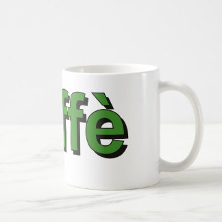 caffè - Coffee in Italian, green Coffee Mug
