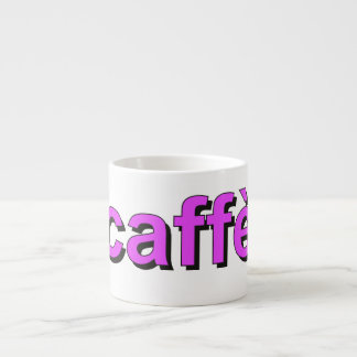 """caffè"" - Coffee in Italian, purple Espresso Cups"