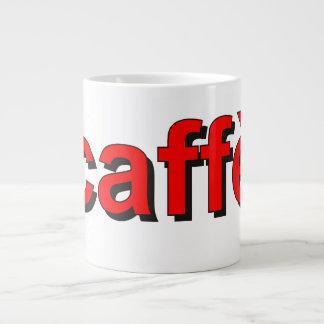 """caffè"" - Coffee in Italian, red Extra Large Mug"