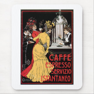 Caffe Espresso Vintage Coffee Drink Ad Art Mouse Pad