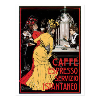 Caffe Espresso Vintage Coffee Drink Ad Art Post Cards