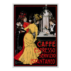 Caffe Espresso Vintage Coffee Drink Ad Art Posters