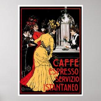Caffe Espresso Vintage Coffee Drink Ad Art Posters