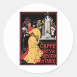 Caffe Espresso Vintage Coffee Drink Ad Art Stickers