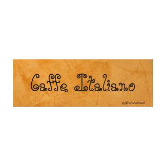 Caffe Italiano Tuscan Orange Painting Canvas Print