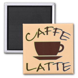 Caffe Latte 2 Inch Square Magnet