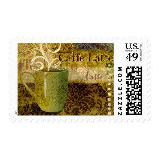 Caffe Latte Postage Stamp
