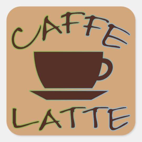 Caffe Latte Square Sticker