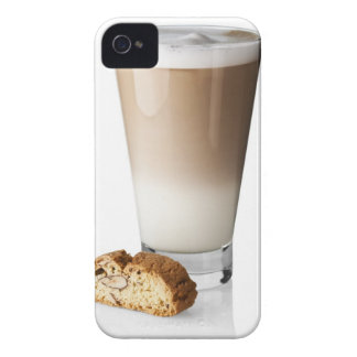Caffe latte with biscotti, on white background, Case-Mate iPhone 4 case