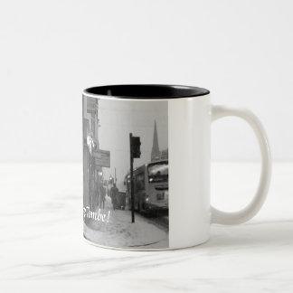 Caffe Taza De Dos Tonos