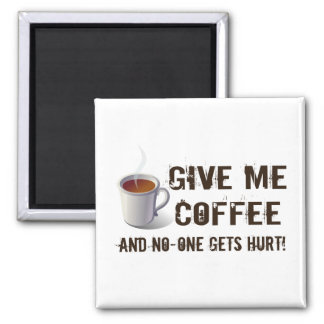 Caffein Deprivation 2 Inch Square Magnet