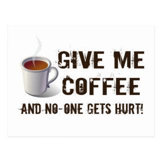 Caffein Deprivation Postcard