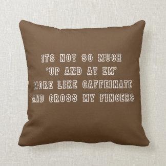 Caffeinate Funny Cushion