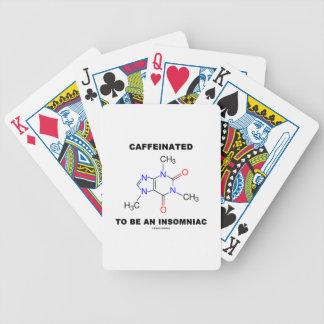 Caffeinated a ser una insomne molécula del cafeín cartas de juego