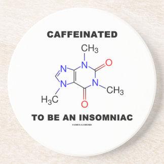 Caffeinated a ser una insomne (molécula del posavasos cerveza