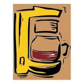 Caffeinated Coffee Pot Postcard