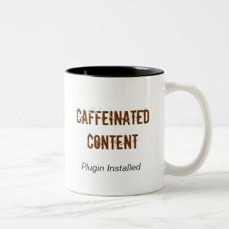 Caffeinated Content Coffee Mug