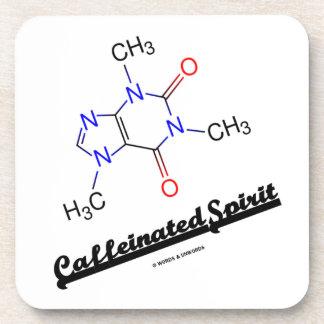Caffeinated Spirit (Caffeine Chemical Molecule) Beverage Coaster