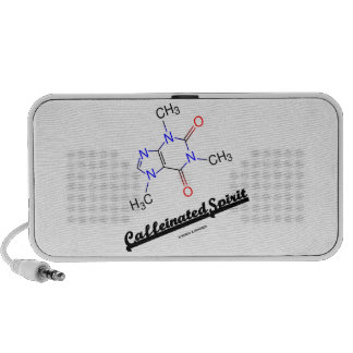 Caffeinated Spirit (Caffeine Chemical Molecule) Mp3 Speaker