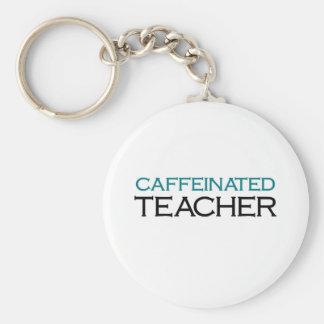 Caffeinated Teacher (blue jolt) Keychain