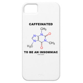 Caffeinated To Be An Insomniac (Caffeine Molecule) iPhone 5 Cover