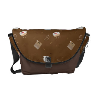 Caffeinated World (Pattern) Messenger Bag