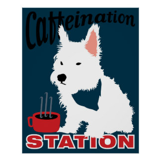 Caffeination Station Poster