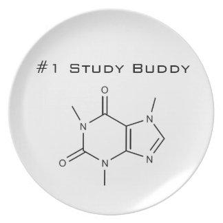 Caffeine 1 Study Buddy Party Plate