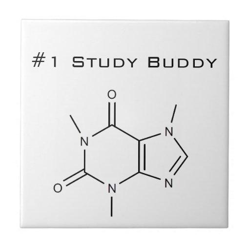 Caffeine #1 Study Buddy Ceramic Tiles